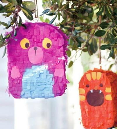 Cute Monster Homemade Pinatas