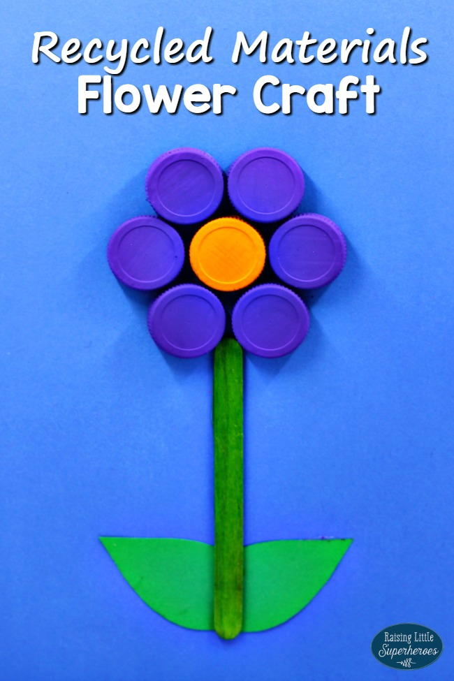Flower Craft From Recycled Materials Allfreekidscrafts Com