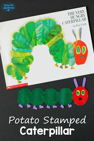 The Very Hungry Caterpillar Potato Stamped Craft