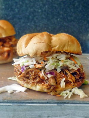 Copycat Pioneer Woman Pulled Chicken Sandwiches