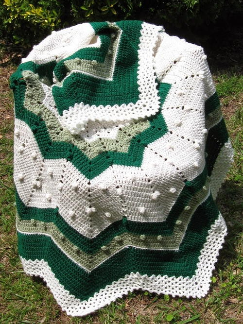Go Green Round Ripple Afghan