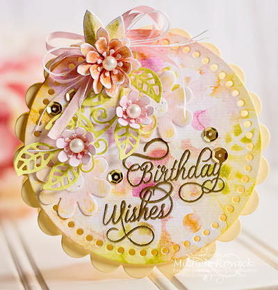 Brightly Floral DIY Birthday Card