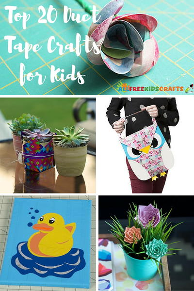 Top 20 Duct Tape Crafts for Kids