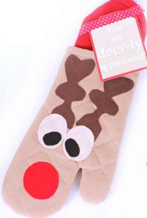 Deer-ly Appreciated Oven Mitt Gift