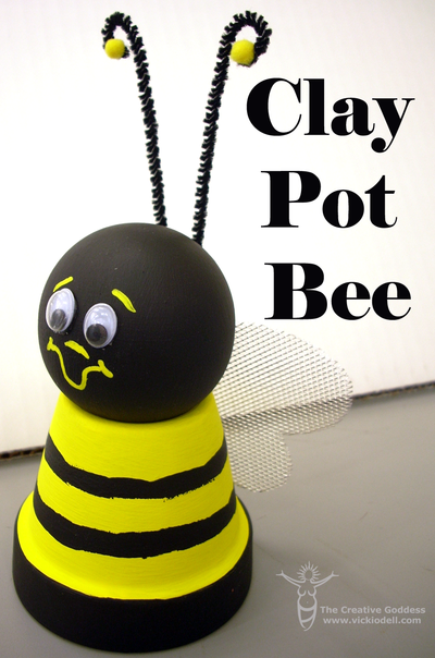 Bee-utiful Clay Pot Craft