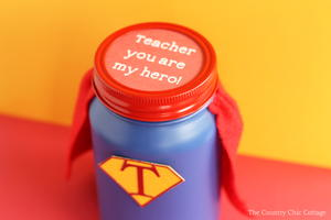 Hero Teacher Gift in a Jar