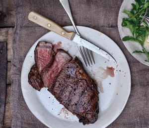 Cherry-Smoked Strip Steak