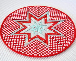 Holiday Folded Star Mat
