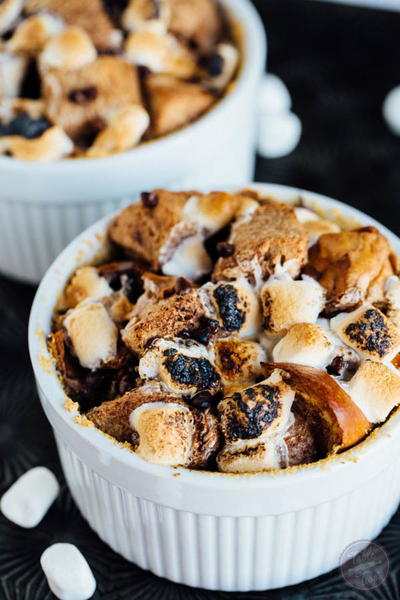 Smores Bread Pudding for Two