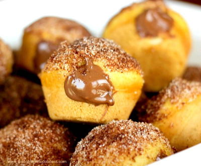 Nutella Churro Donut Poppers