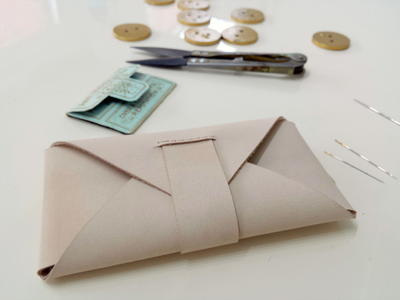 Leather Origami Envelope