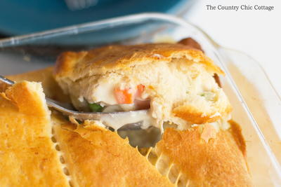 Crescent Roll Crust Chicken Pot Pie