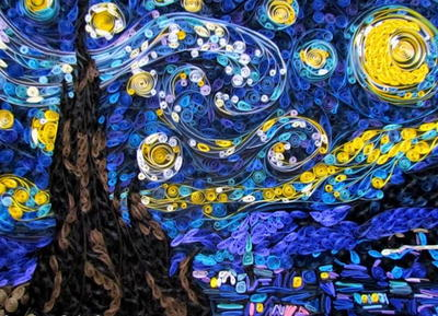 Starry Night Quilling Art