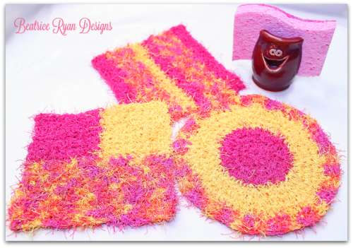 Bright and Cheery Kitchen Scrubbies