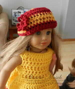Team Spirit Hat for American Girl Doll