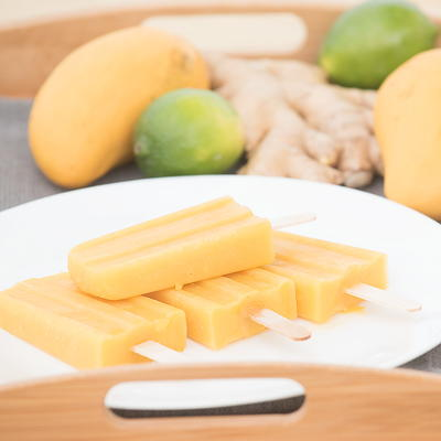 Honey Lime Mango Popsicles