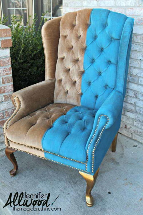 How to Paint Crushed Velvet Furniture