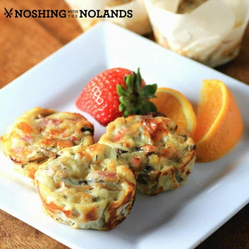 Mini Canadian Bacon Mushroom Frittatas