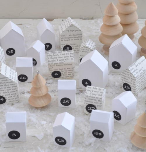 Simple Houses DIY Advent Calendar