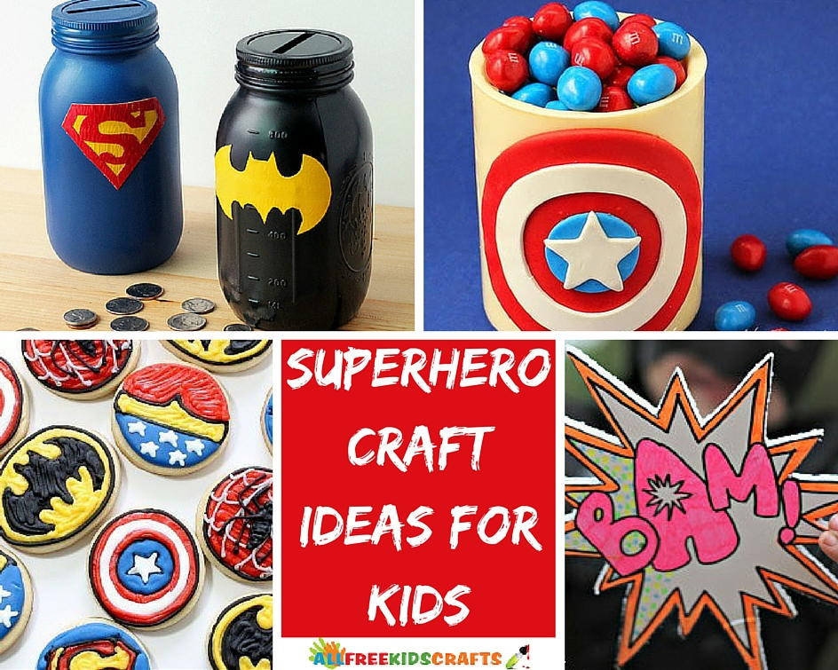 superhero party craft ideas 30 craft ideas for allfreekidscrafts 5529