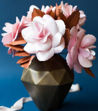 Blush and Copper DIY Paper Roses