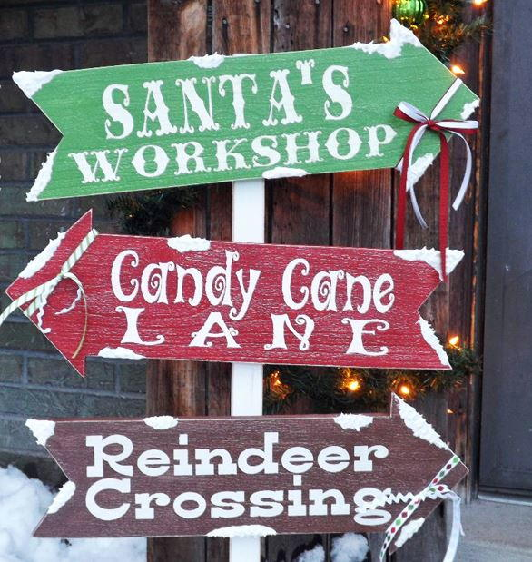 Santa S Village Diy Outdoor Sign Allfreechristmascrafts Com
