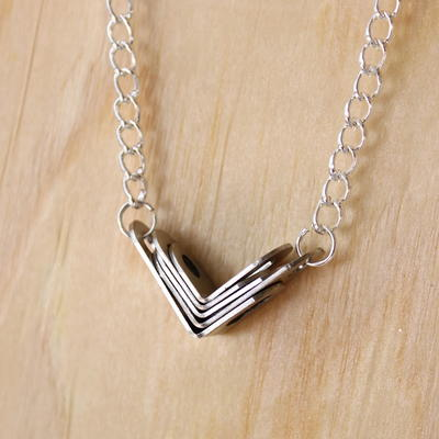 Dollar Store Metal Chevron Necklace