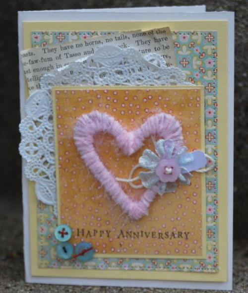 Wrapped Up in Love Anniversary Card
