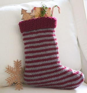 Simple Striped Stocking
