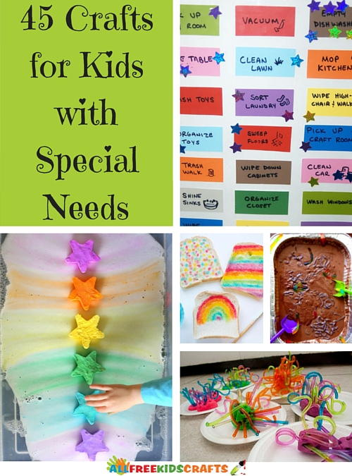 45 crafts for kids with special needs for Craft toys for kids