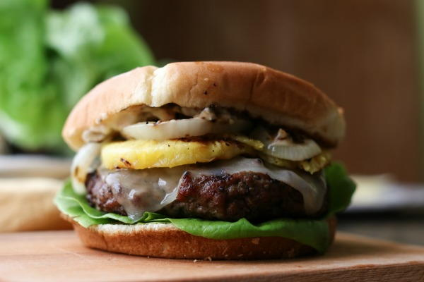 Grilled Hawaiian Burgers with Pineapple