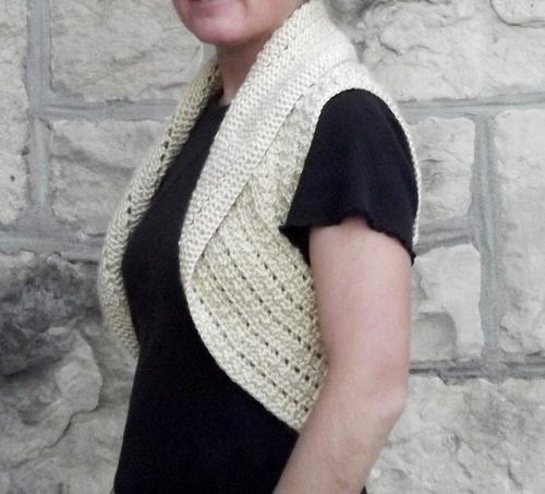 Bead and Lace Circular Vest