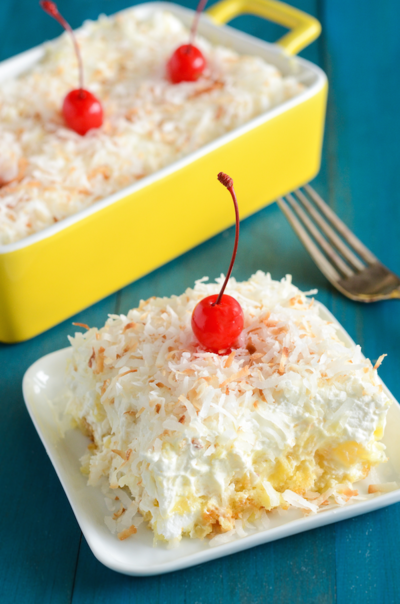 Paula Deen-Inspired Pineapple Coconut Cake