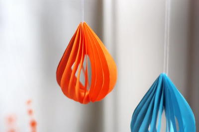 Teardrop Paper Ornaments