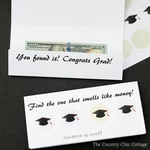 DIY Scratch and Sniff Graduation Card