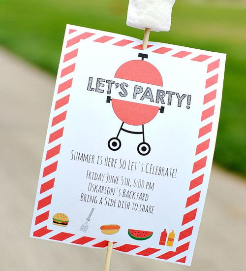 Printable Invitations for a Summer Party