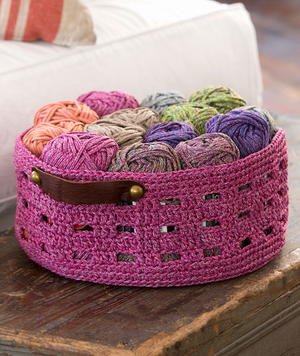 Grape Cordial Crochet Basket