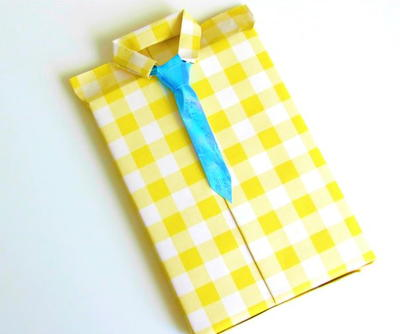 Suit and Tie Fathers Day Gift Wrap