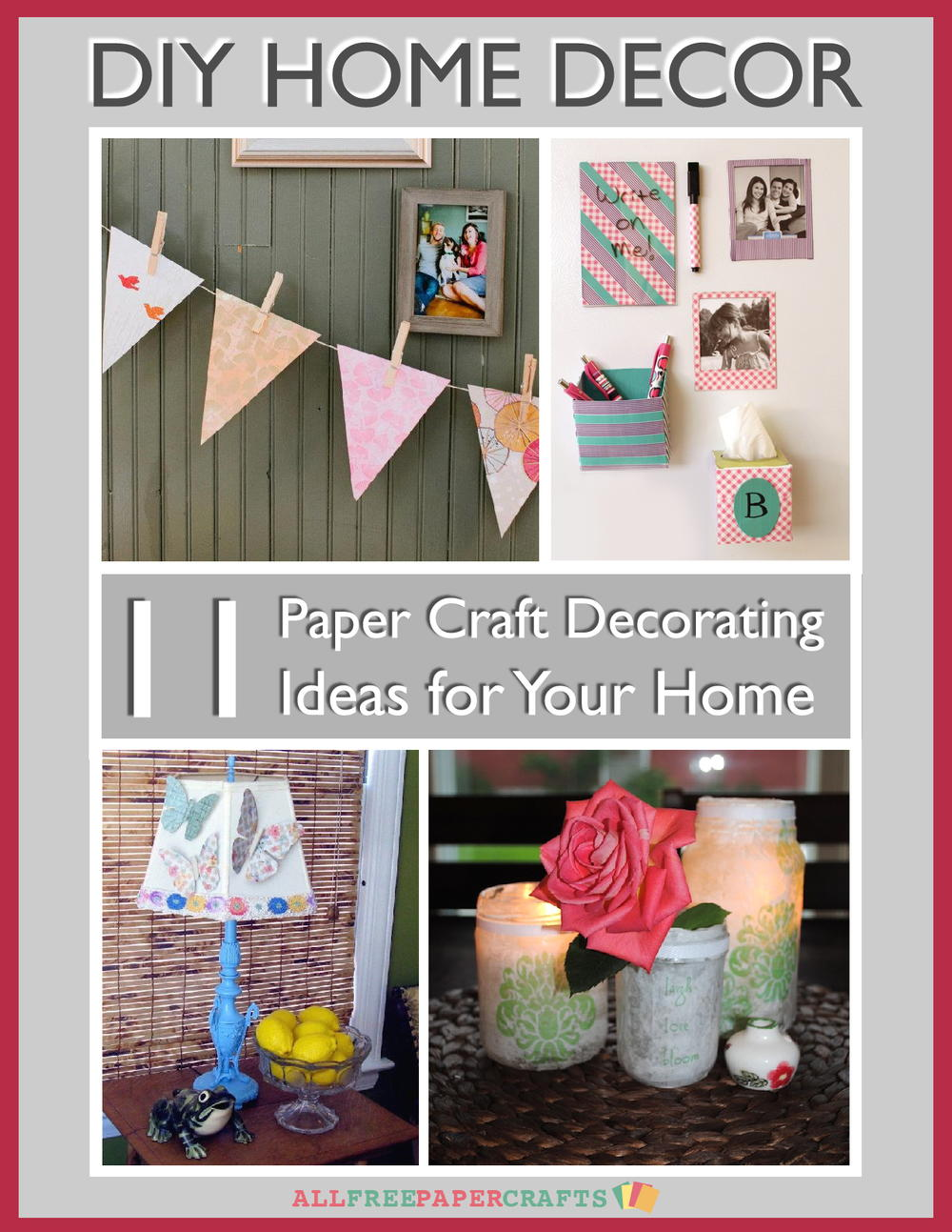 Diy home decor 11 paper craft decorating ideas for your for Art and craft file cover decoration