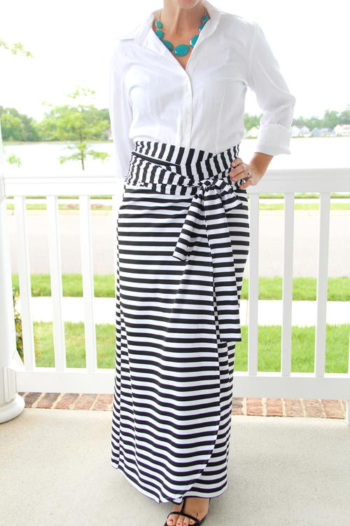 Thats a Wrap DIY Maxi Skirt
