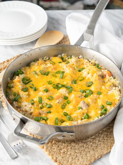 One Pan Pork and Rice Casserole