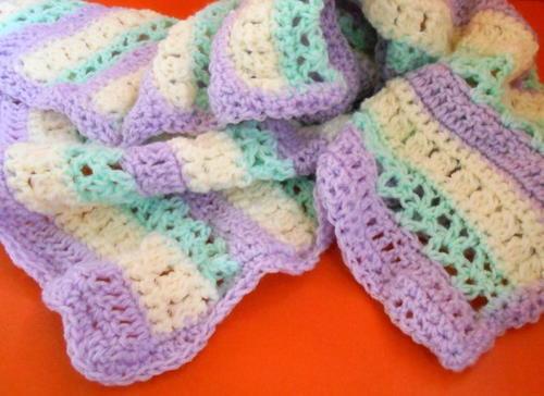 Zebra Crochet Afghan Pattern Free : Beginner Zebra Crochet Baby Blanket ...