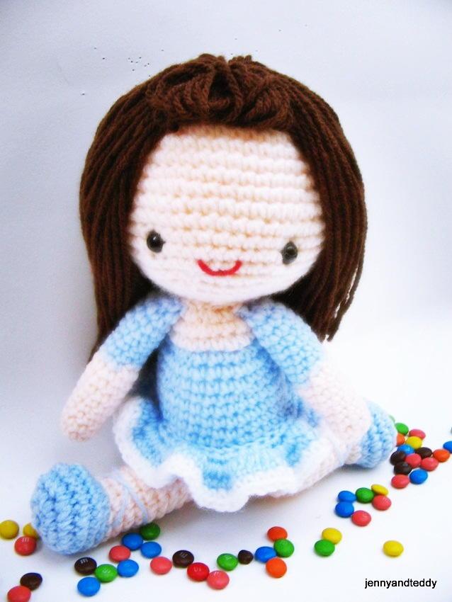 Big Amigurumi Doll Pattern : Bella Ballerina Amigurumi Doll AllFreeCrochet.com