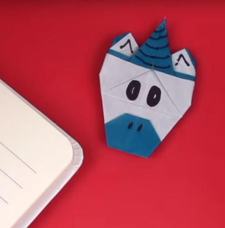 Origami Unicorn Corner Bookmark | AllFreePaperCrafts.com