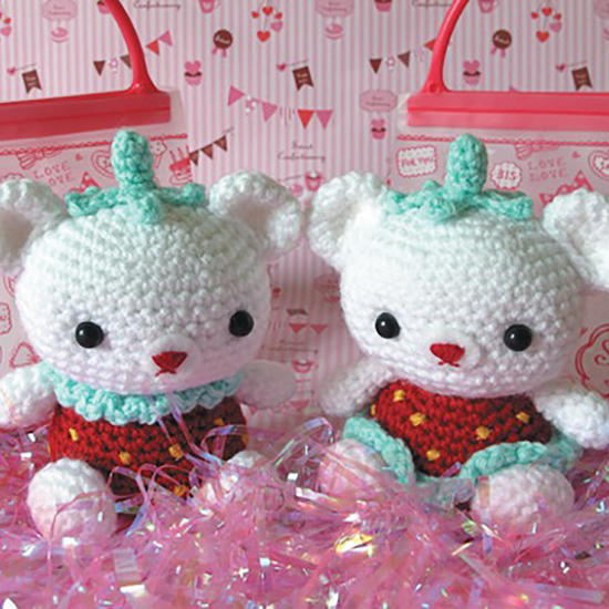 Strawberry Crochet Amigurumi Bears