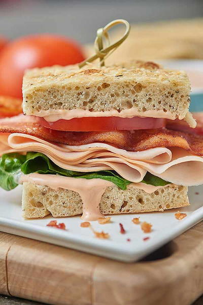 Copycat Panera Bacon Turkey Bravo Sandwich