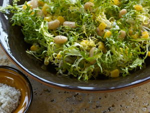 Cannellini Bean, Corn, and Frisee Salad