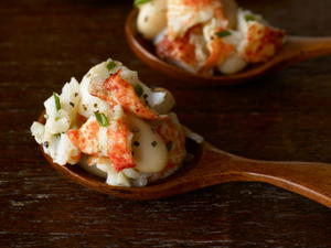 Lobster and White Bean Spoons