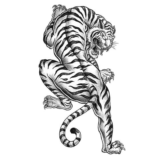 Tiger Tattoo Coloring Page FaveCraftscom