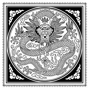 chinese dragon coloring page - Challenging Dragon Coloring Pages
